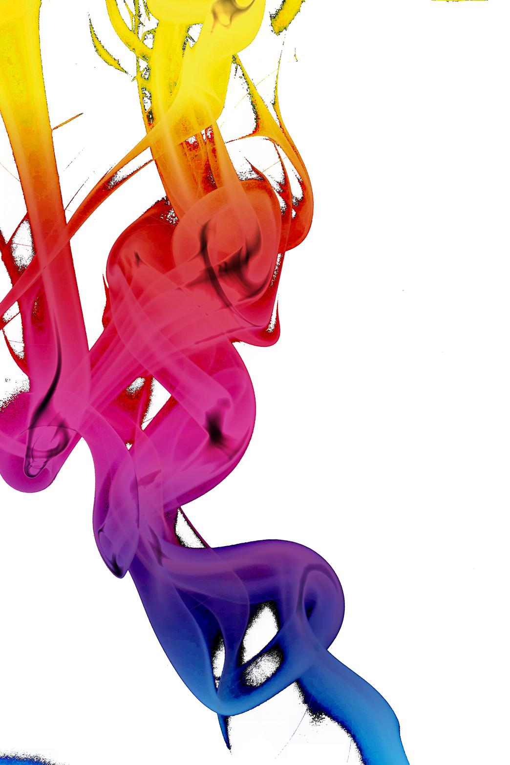 Colorful Smoke PNG Image.