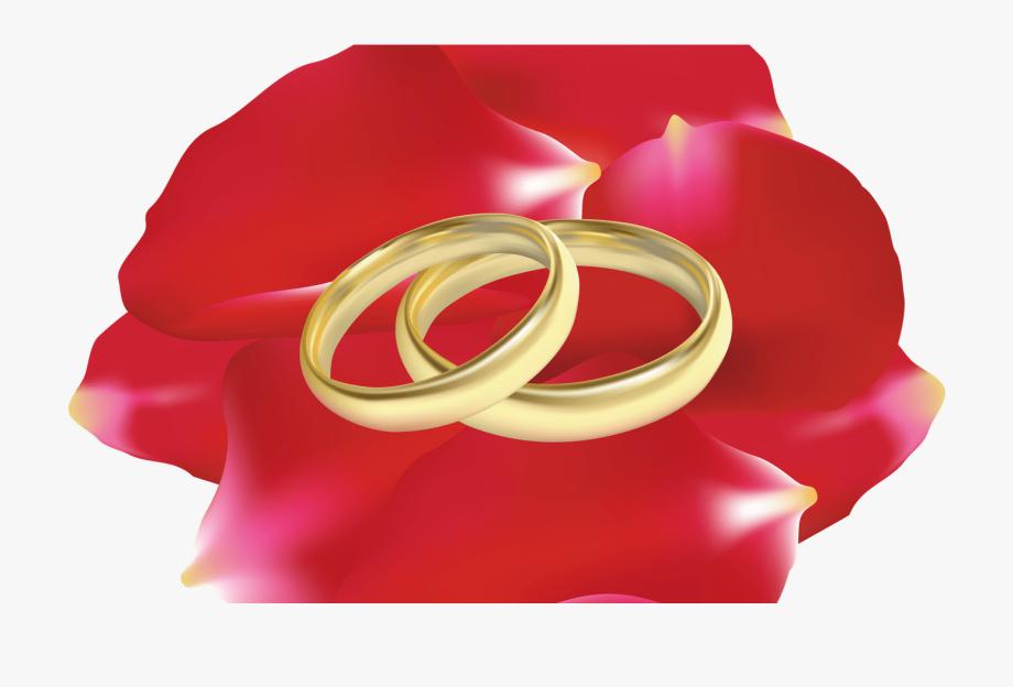 Wedding Rings In Rose Petals Png Clip Art Best Web.