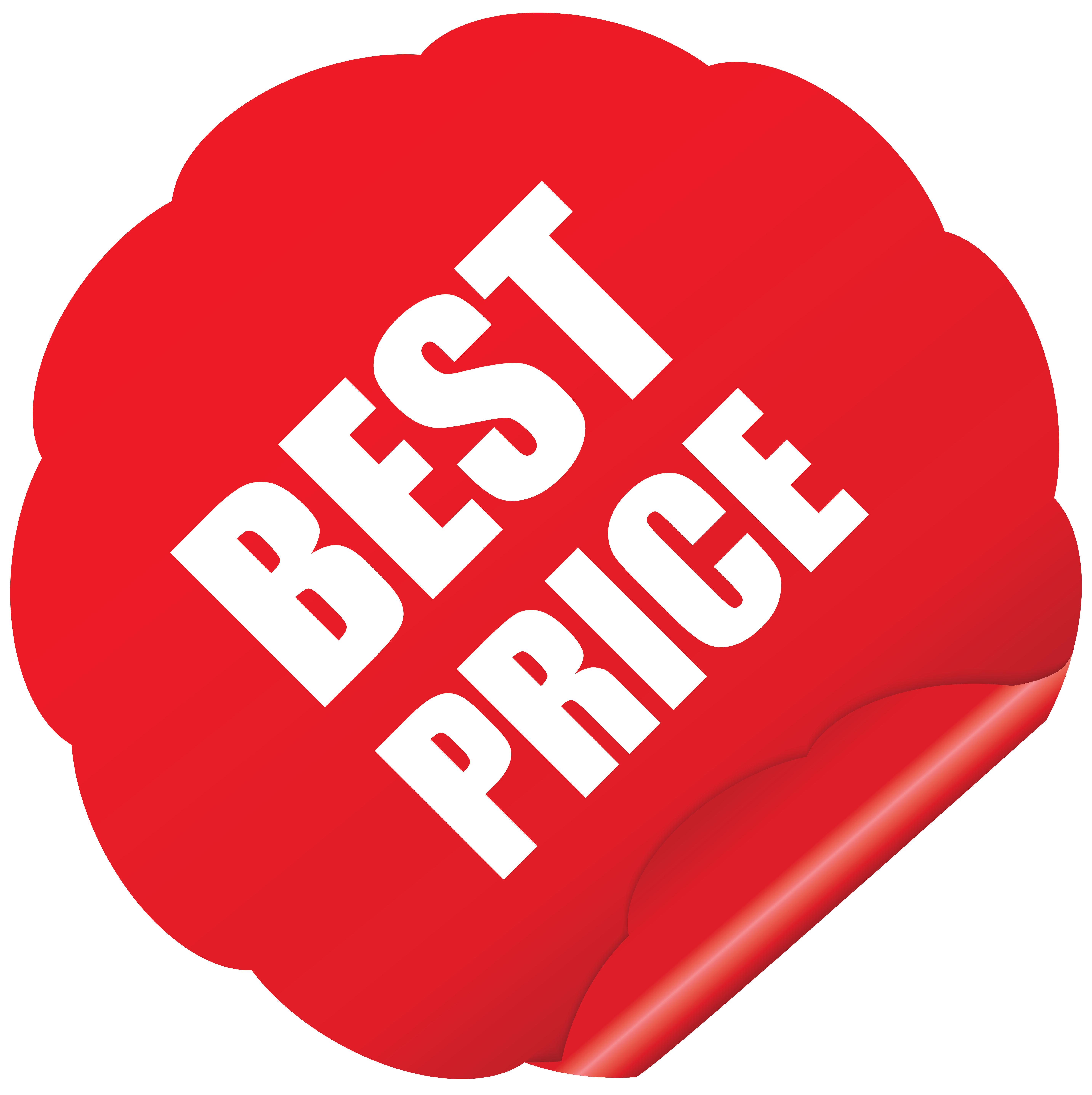 Best Price Sticker PNG Clipart Picture.