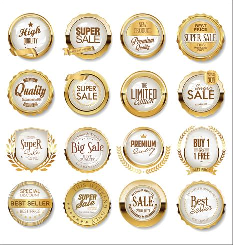 Golden super sale labels.