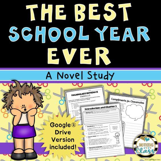 Best School Year Ever Novel Study Unit: comprehension, vocab.