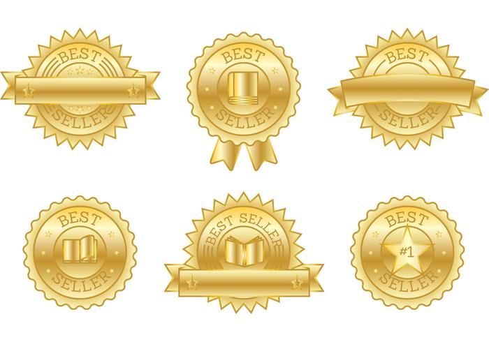 Best Seller Book Badge Vectors.
