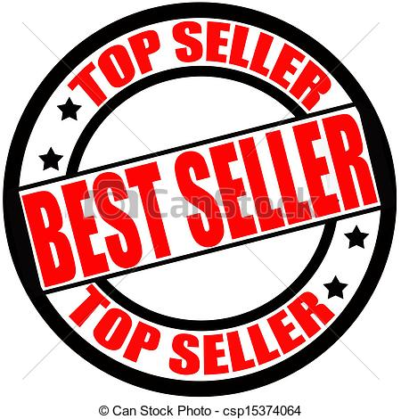 Clip Art Vector of Best seller.