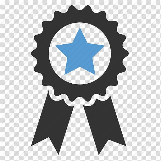Black and blue star with ribbon illustration, Computer Icons.