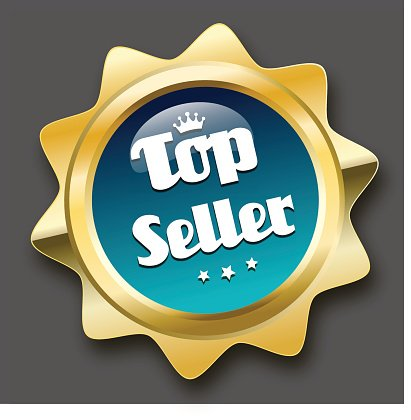 top seller seal or icon Clipart Image.