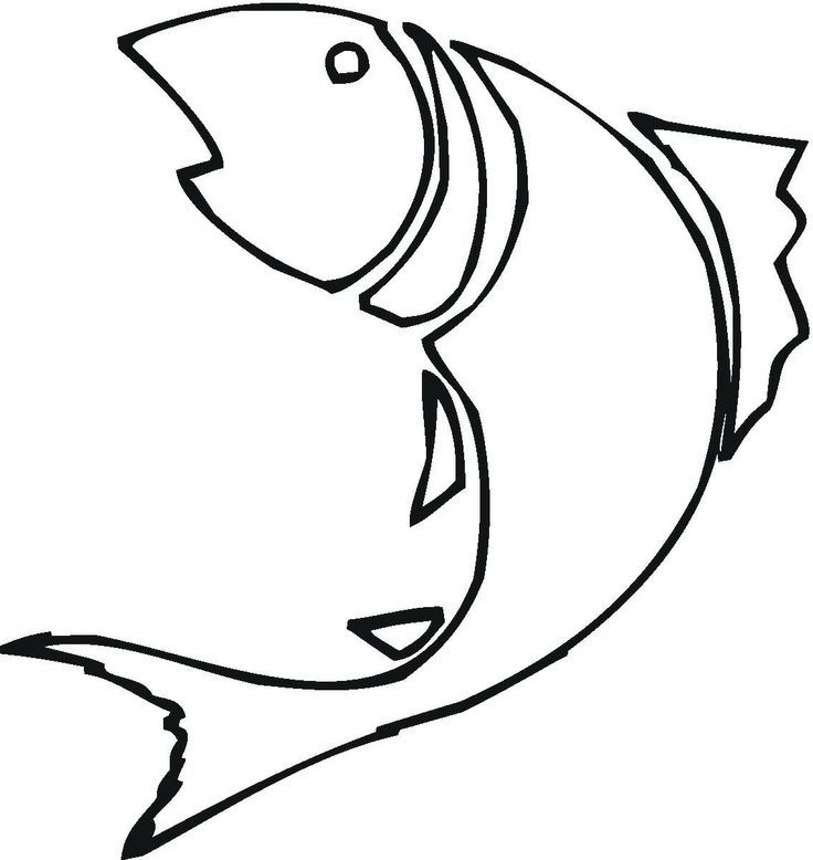 Fish Drawing Outline.