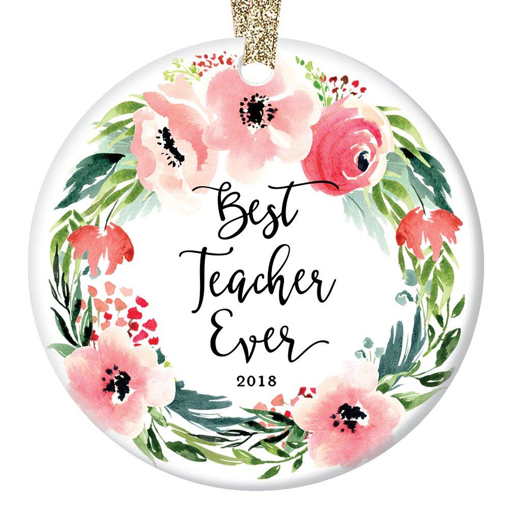 Amazon.com: Best Teacher Ever Christmas Ornament 2018.