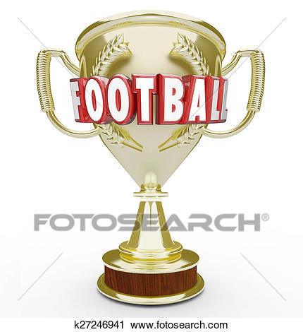 Football Best Team Golden Trophy Award Soccer Champion Winner Vi Clip Art.