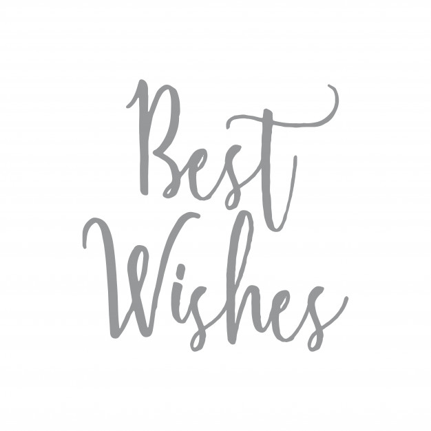 Best wishes word quote clipart Vector.