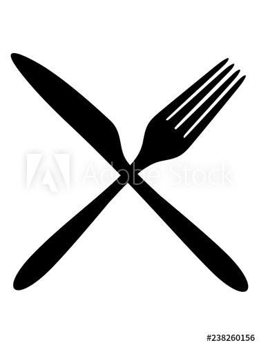 logo kreuz x gabel messer besteck essen gehen hunger mittagessen.