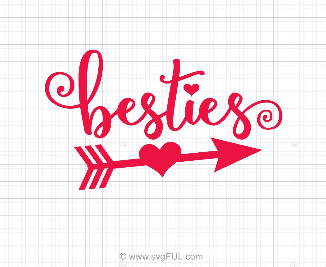 Besties Best Friends Svg Saying.