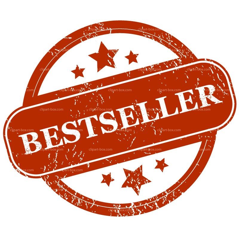 CLIPART BESTSELLER RED STAMP.