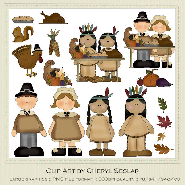 Thanksgiving Clip Art : Clip Art Designs, Commercial use products.