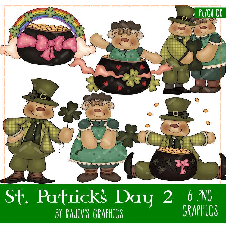 St. Patrick's Day Clip Art : Clip Art Designs, Commercial use.