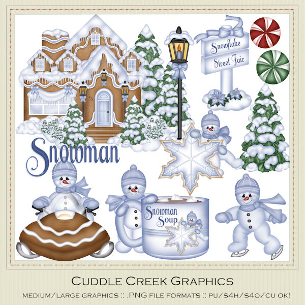 Snowman Clip Art : Clip Art Designs, Commercial use products for.