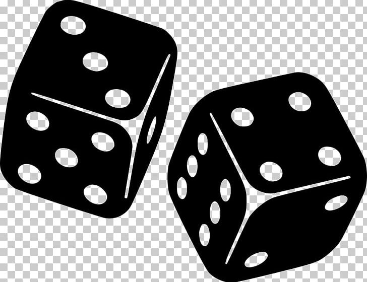 Dice Gambling Risk Black & White Computer Icons PNG, Clipart.
