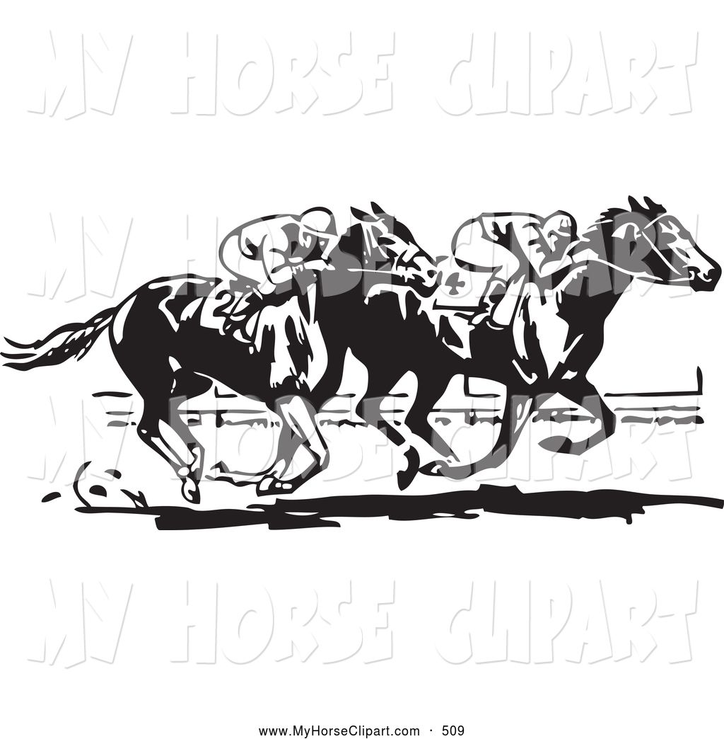 Race Horse Silhouette Clip Art Royalty Free Black And White.