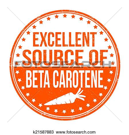 Clipart of Excellent source of beta carotene stamp k21587883.