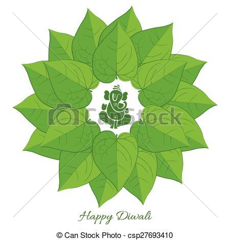Vector Clip Art of Diwali background.