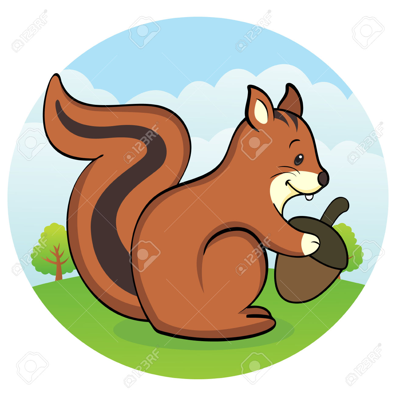 Happy Squirrel With Betel Nut Royalty Free Cliparts, Vectors, And.
