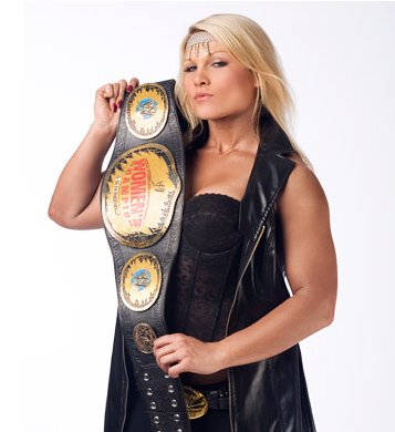 Beth Phoenix With His Belt.