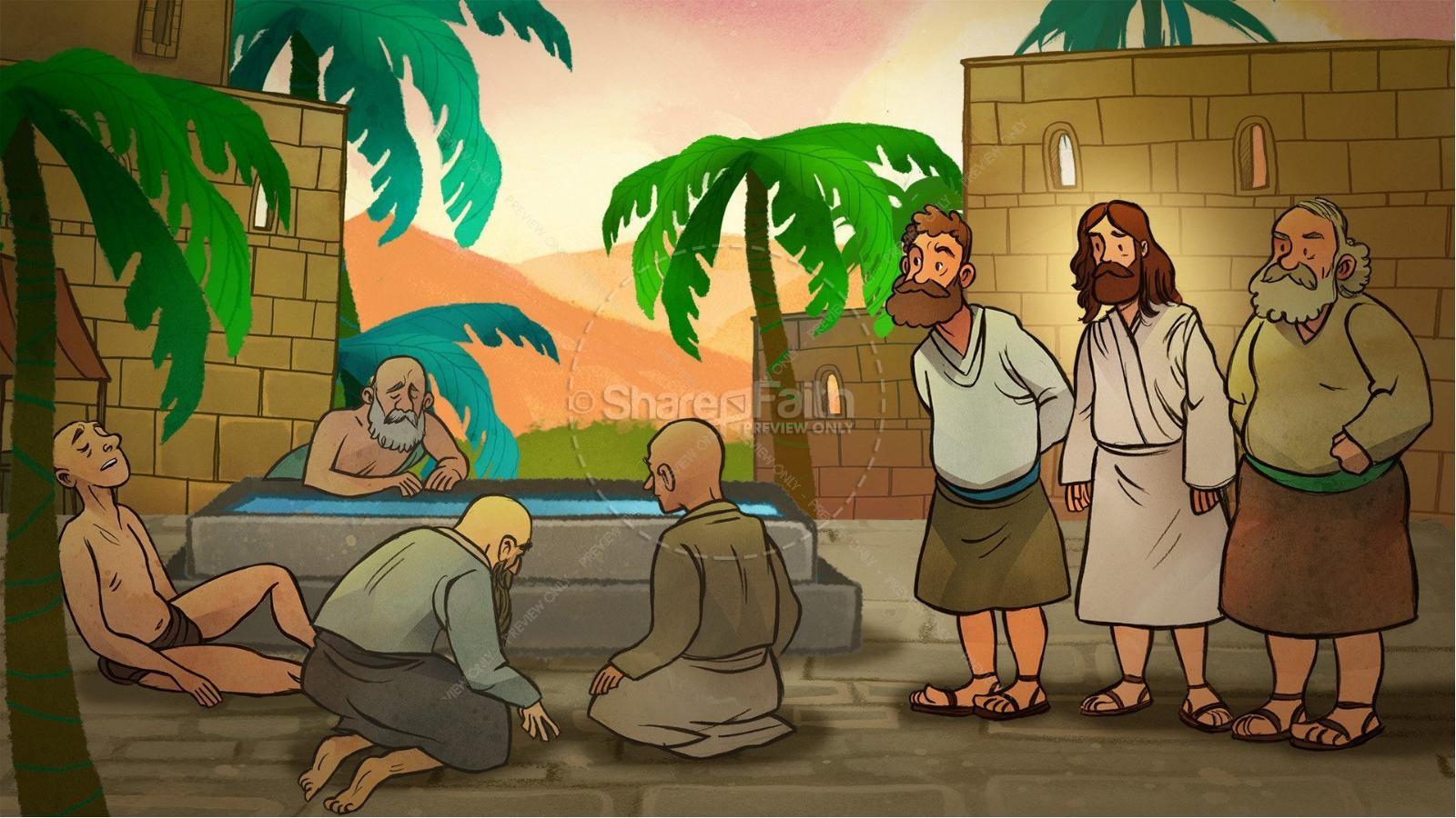 John 5 Pool of Bethesda Kids Bible Stories.