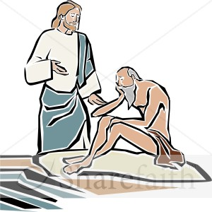 Jesus Heals the Blind Man by Bethsaida Pool.