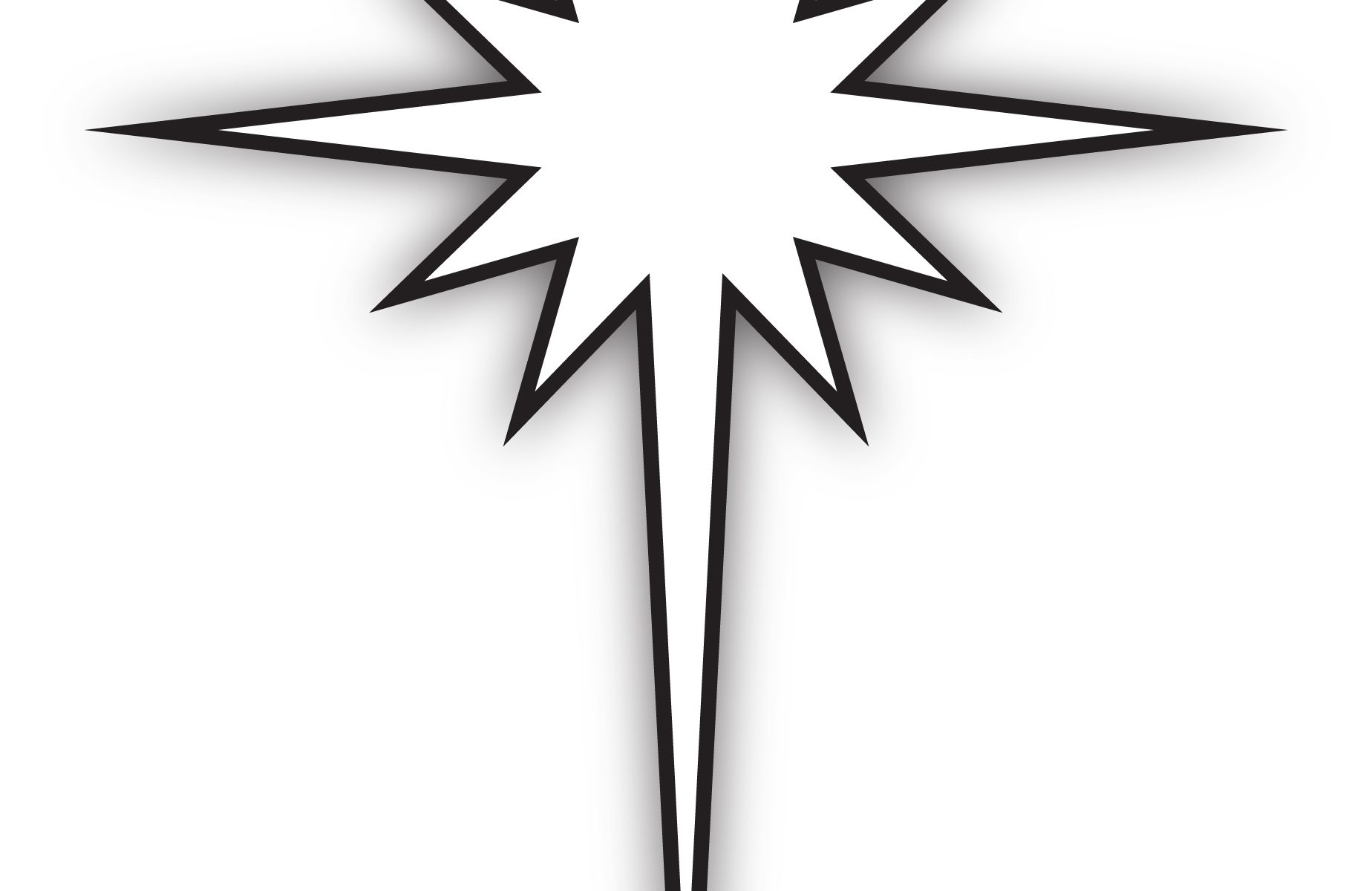 Star Of Bethlehem Clipart Black And White.