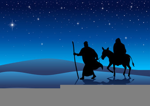 Journey To Bethlehem Clipart.