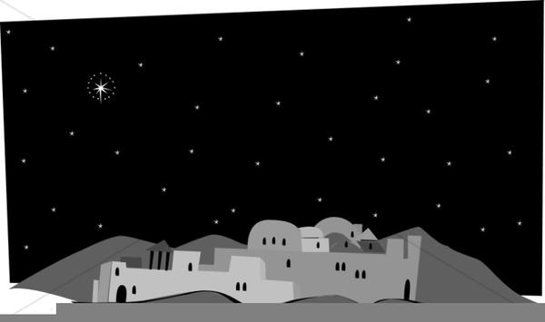 Little Town Bethlehem Clipart.