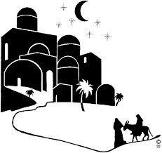 Bethlehem silhouette.