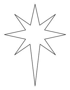 Christmas Star Printable, Bethlehem Star Pattern, Bethlehem Star.