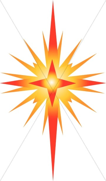 Bright Star of Bethlehem Clipart.