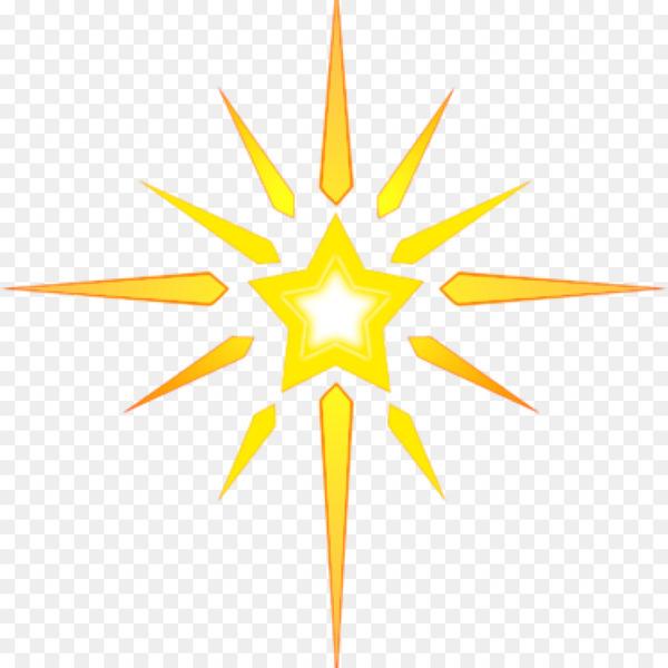 Clip Art Christmas Star of Bethlehem Christmas Day Image.