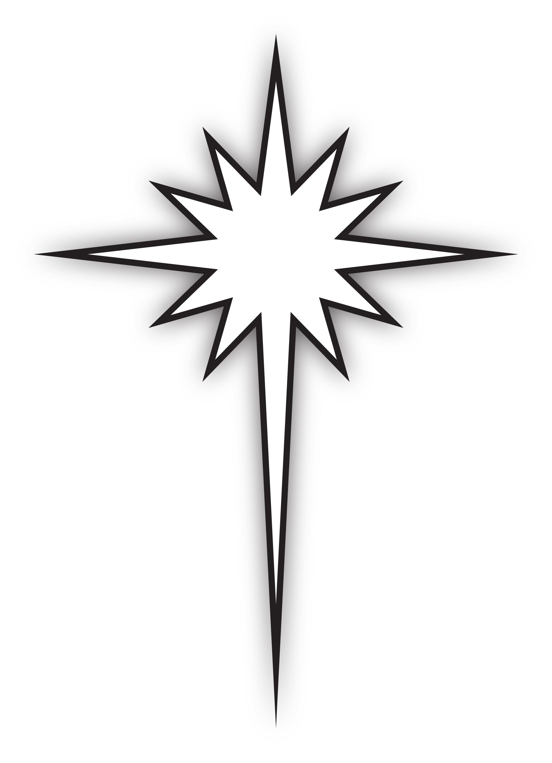 The logo merges the cross shape of Christ with the Epiphany.