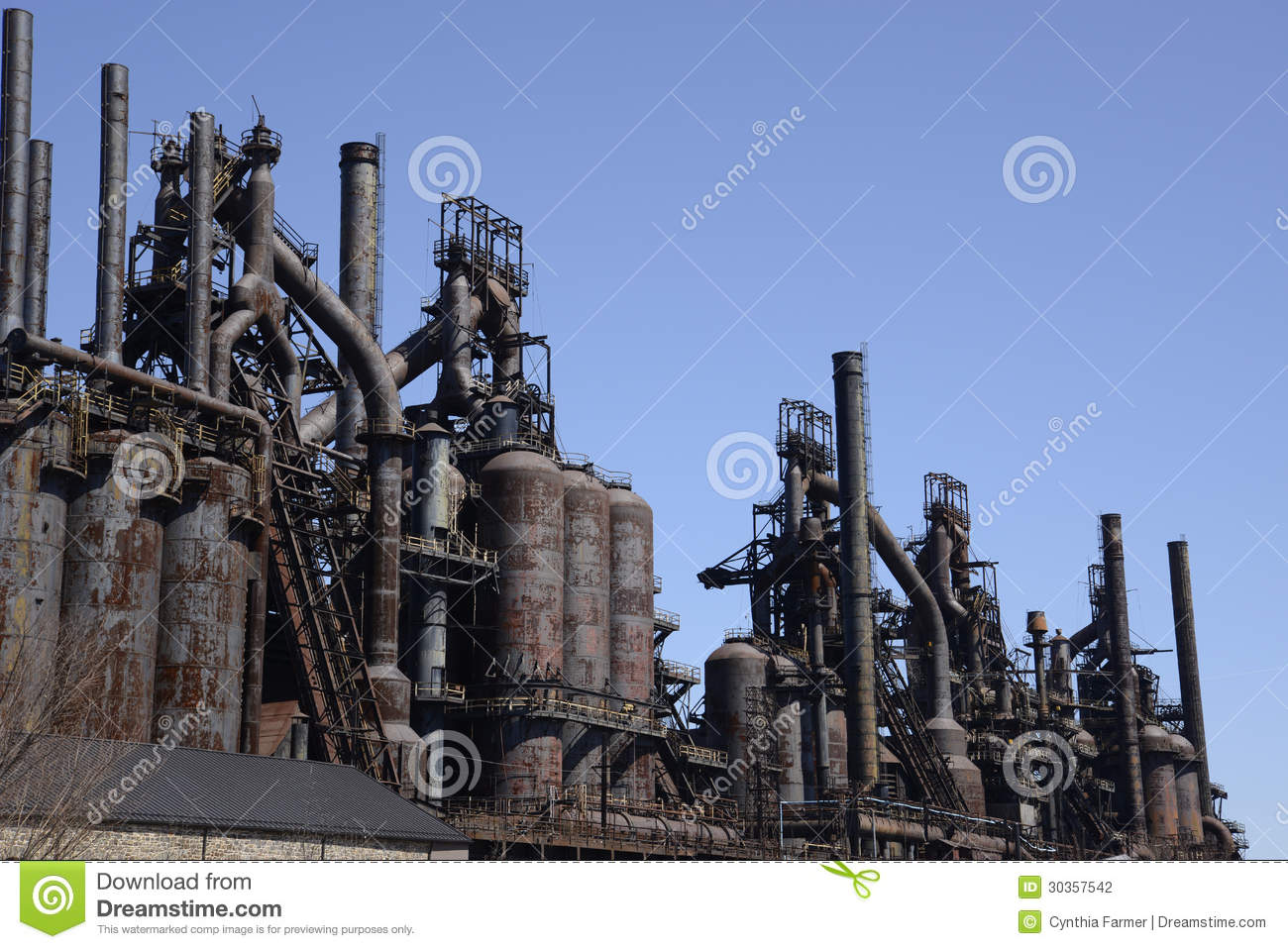 Old Bethlehem Steel Factory In Pennsylvania Stock Photography.