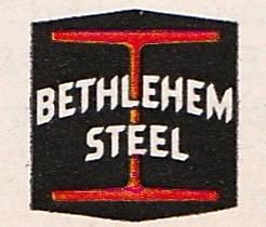 BETHLEHEM STEEL Logo 1960s.