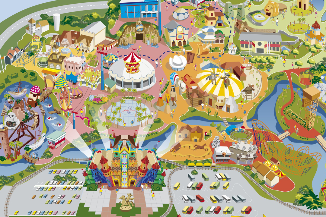 Beto Carrero World Map.