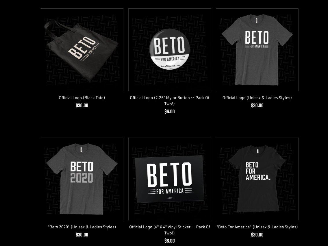 Beto O\'Rourke\'s logo for his 2020 presidential run is.