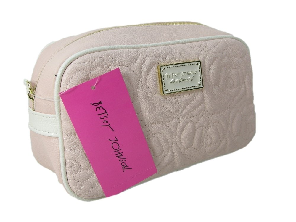 New Betsey Johnson Logo Cosmetics Make Up Bag Travel Case.