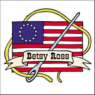Clip Art: US Folklore: Betsy Ross Color 2 I abcteach.com.