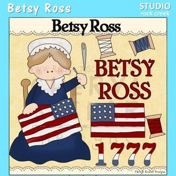 Betsy Ross US History Color Clip Art C. Seslar.