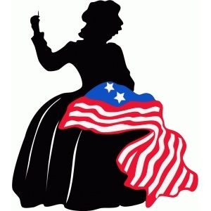 Betsy ross silhouette.