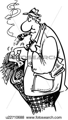 Clip Art of , betting, cartoon, gambler, people, u22710688.