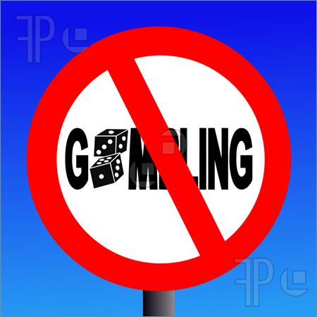 Illustration of no gambling.