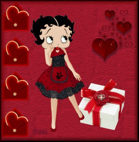 Image result for betty boop valentines day pictures.