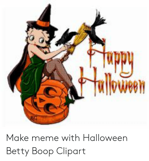 Fuppy Make Meme With Halloween Betty Boop Clipart.
