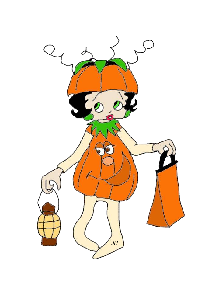 BETTY BOOP HALLOWEEN CLIPART FREE TO USE.