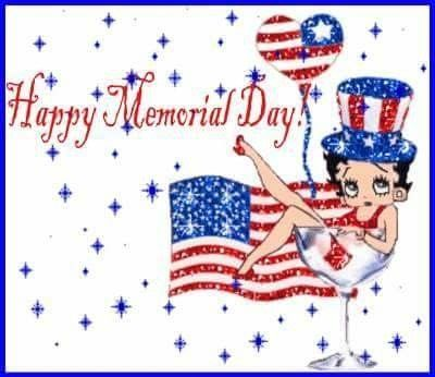 Patriotic Betty Boop Happy Memorial Day Quote Pictures.
