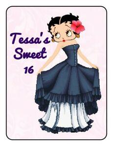 15 Etiquetas Cumpleaños favor Etiqueta con Betty Boop Con.